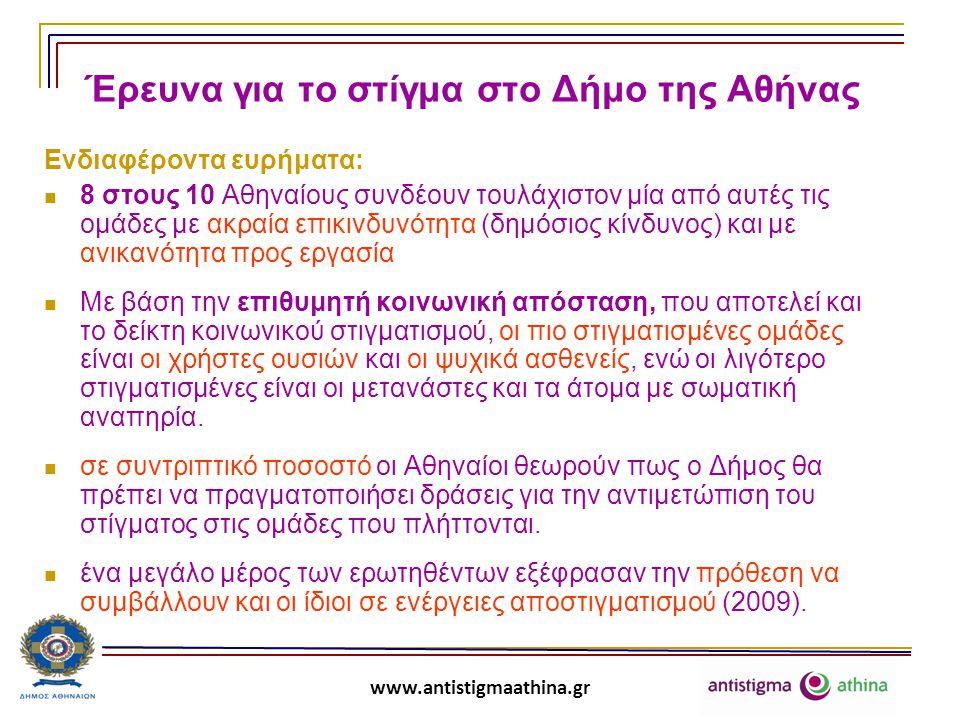 Έρευνα για το στίγμα στο Δήμο της Αθήνας