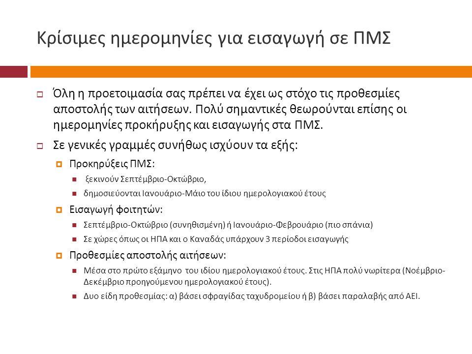 Κρίσιμες ημερομηνίες για εισαγωγή σε ΠΜΣ