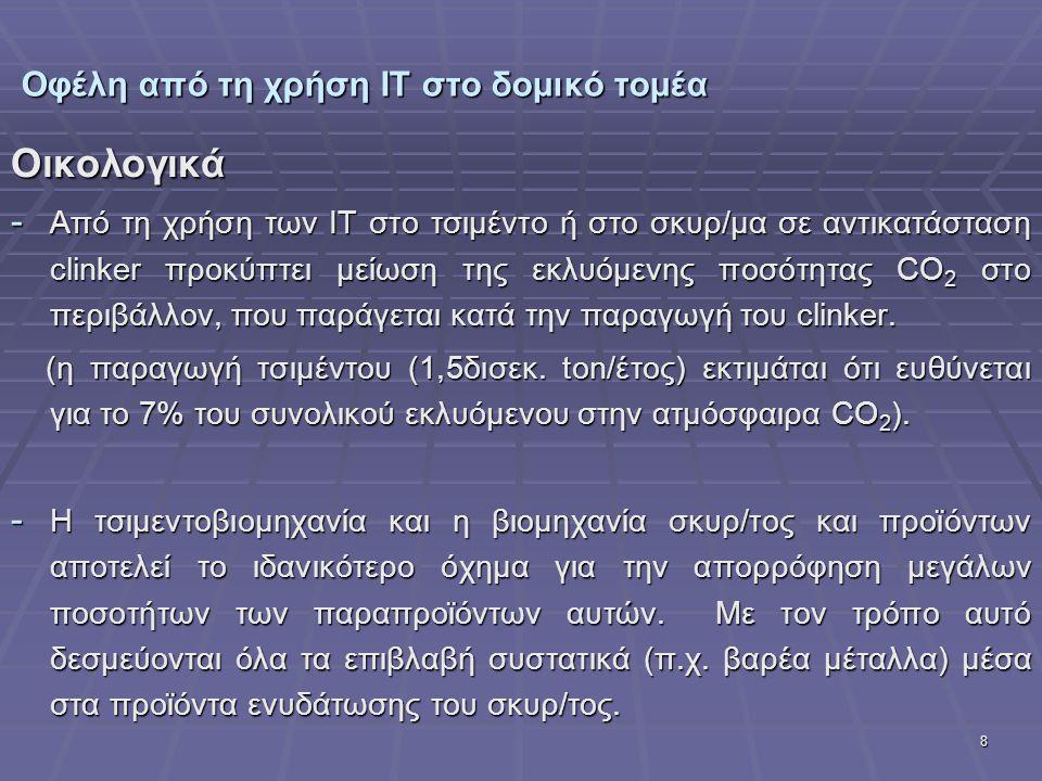 Οφέλη από τη χρήση ΙΤ στο δομικό τομέα