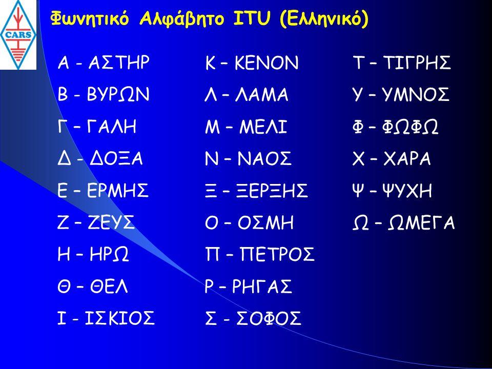 Φωνητικό Αλφάβητο ITU (Ελληνικό)