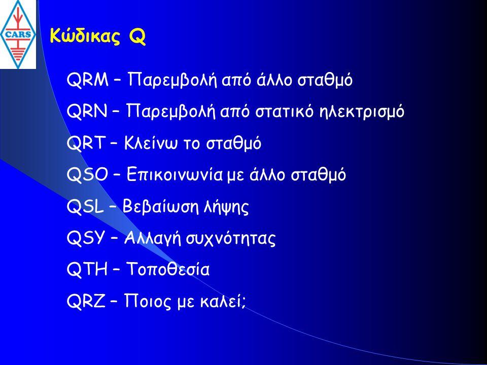 Κώδικας Q QRM – Παρεμβολή από άλλο σταθμό