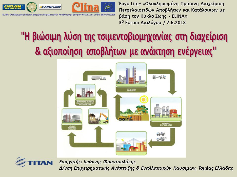 Η βιώσιμη λύση της τσιμεντοβιομηχανίας στη διαχείριση
