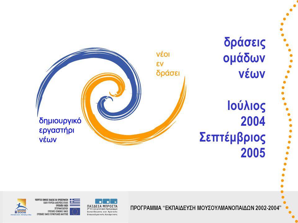 ΠΡΟΓΡΑΜΜΑ ΕΚΠΑΙΔΕΥΣΗ ΜΟΥΣΟΥΛΜΑΝΟΠΑΙΔΩΝ 2002-2004