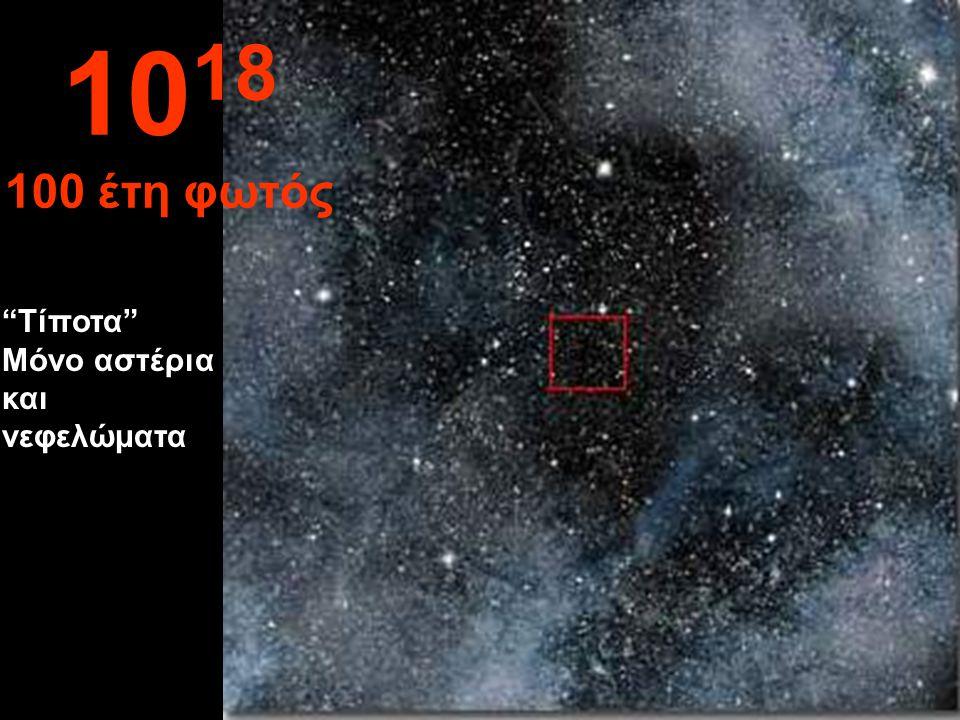 1018 100 έτη φωτός Τίποτα Μόνο αστέρια και νεφελώματα