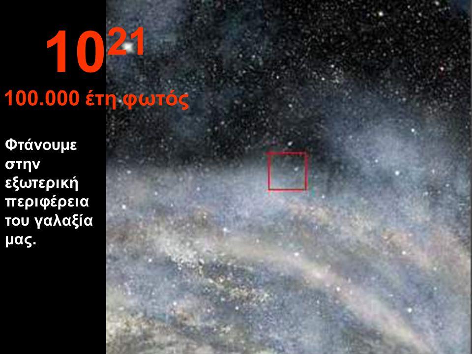 1021 100.000 έτη φωτός Φτάνουμε στην εξωτερική περιφέρεια του γαλαξία μας.