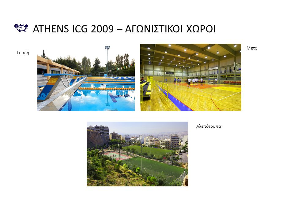 Athens icg 2009 – Αγωνιςτικοι χωροι