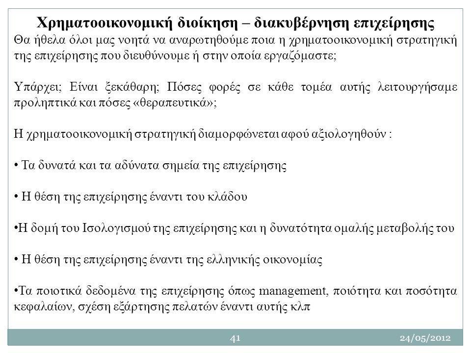 Χρηματοοικονομική διοίκηση – διακυβέρνηση επιχείρησης