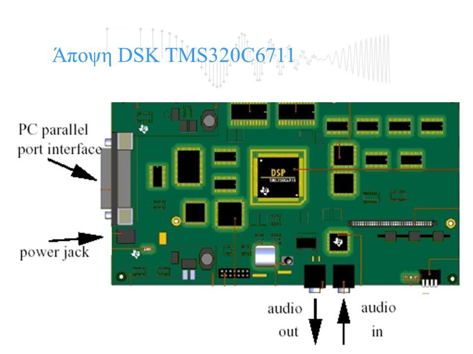 Άποψη της Αναπτυξιακής κάρτας DSP Starter Kit (DSK).