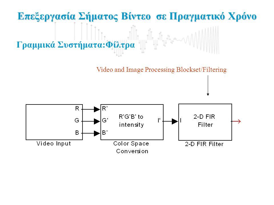 Επεξεργασία Σήματος Βίντεο σε Πραγματικό Χρόνο