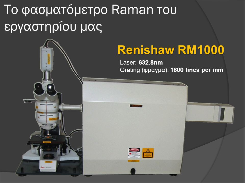 Το φασματόμετρο Raman του εργαστηρίου μας
