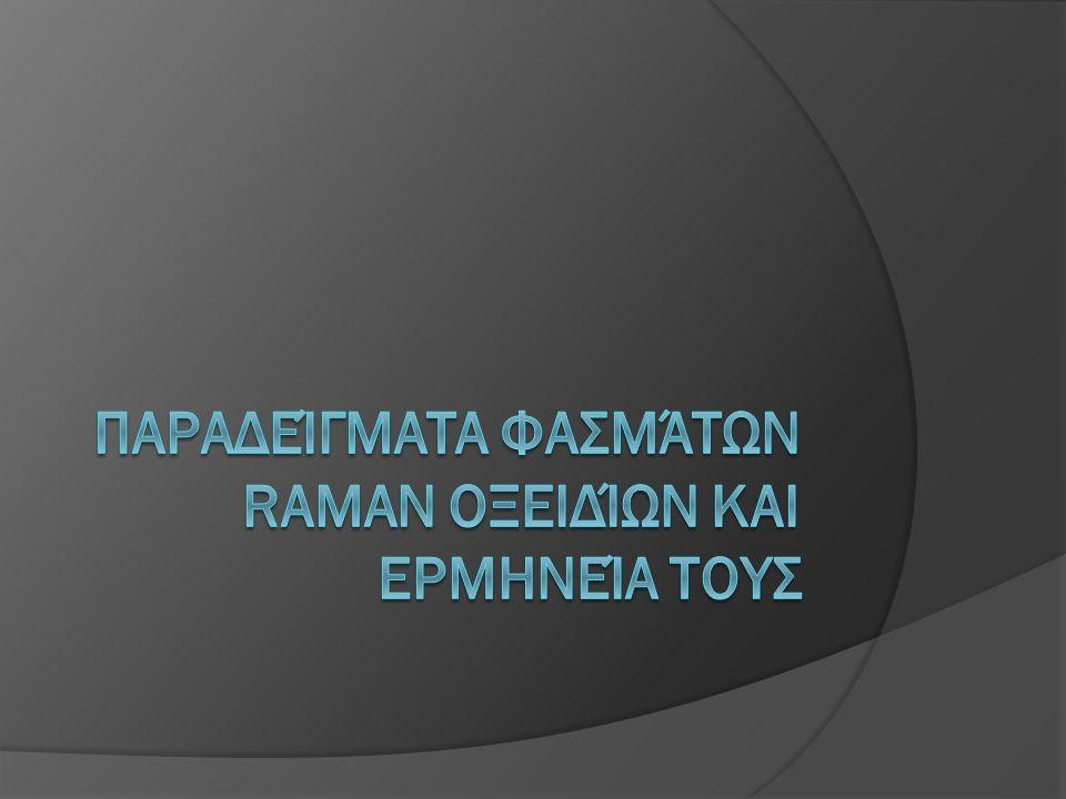Παραδείγματα φασμάτων Raman οξειδίων και ερμηνεία τουΣ