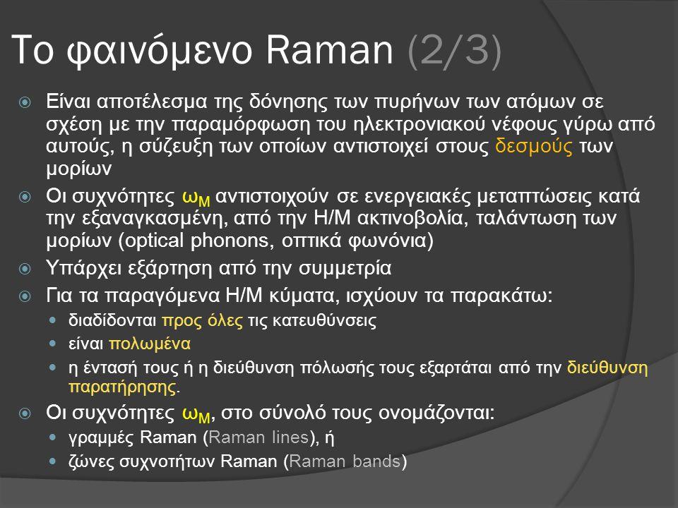 Το φαινόμενο Raman (2/3)