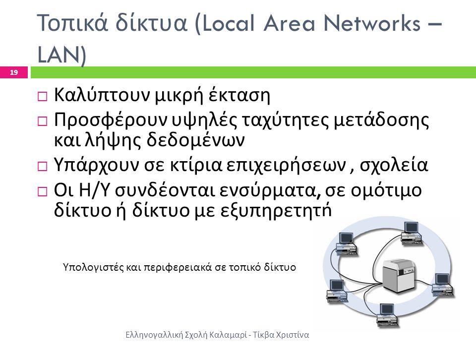 Τοπικά δίκτυα (Local Area Networks – LAN)