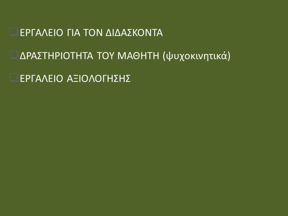 ΕΡΓΑΛΕΙΟ ΓΙΑ ΤΟΝ ΔΙΔΑΣΚΟΝΤΑ