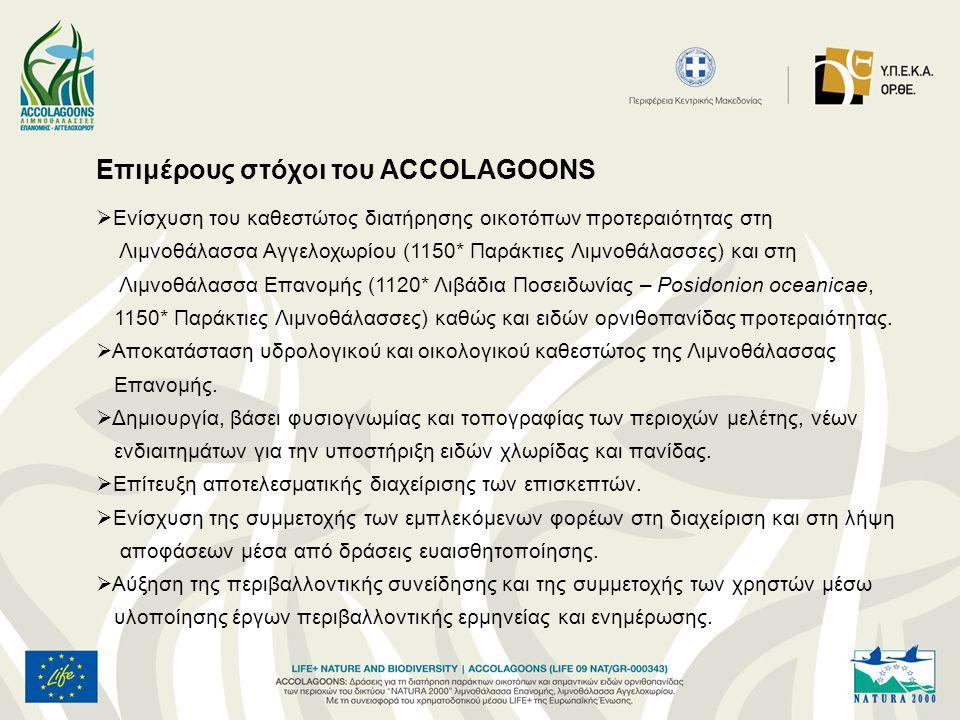 Επιμέρους στόχοι του ACCOLAGOONS