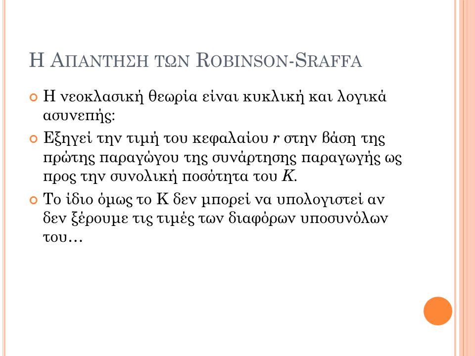 Η Απαντηση των Robinson-Sraffa