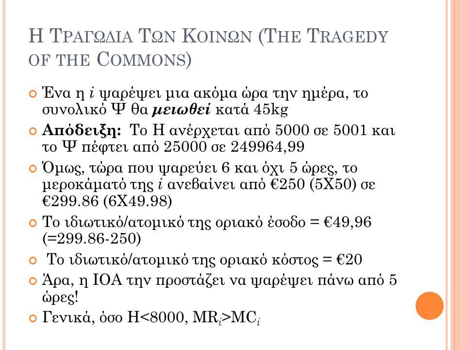 Η Τραγωδια Των Κοινων (The Tragedy of the Commons)