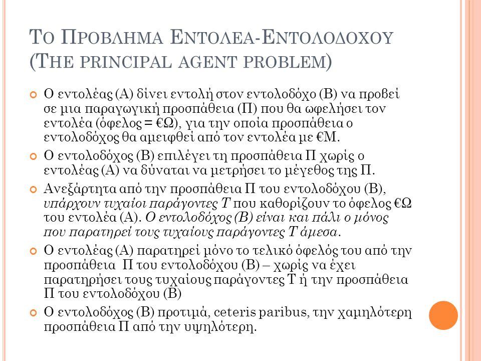 Το Προβλημα Εντολεα-Εντολοδοχου (The principal agent problem)