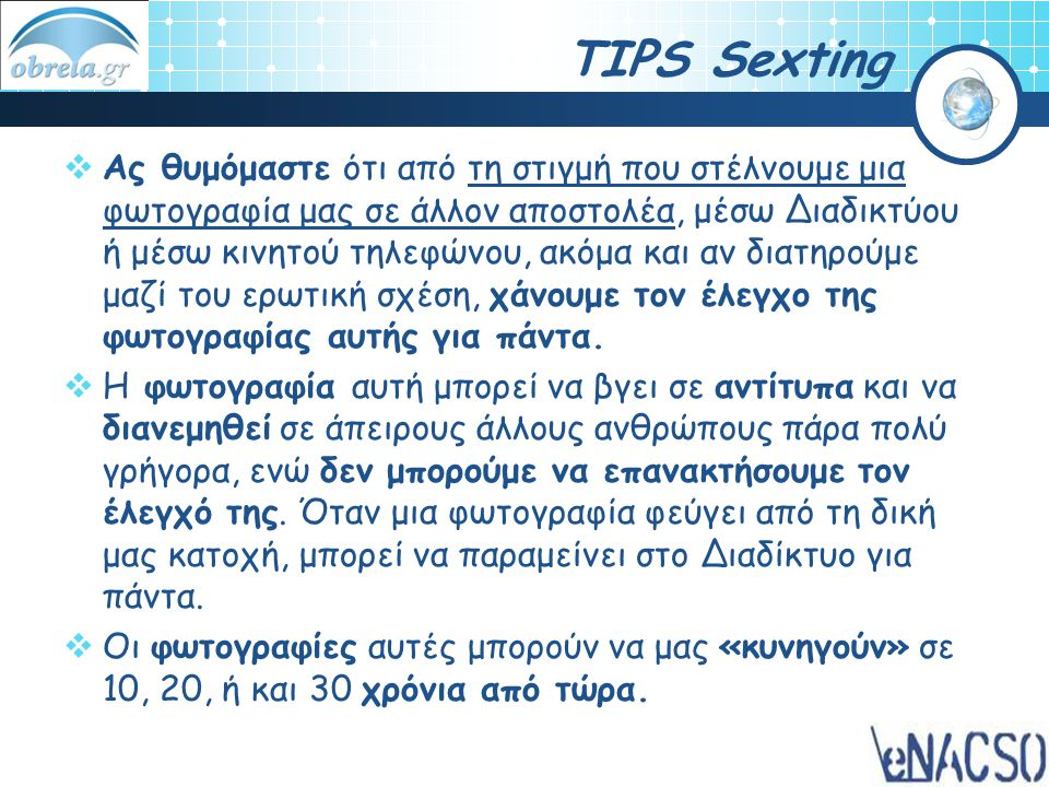 TIPS Sexting