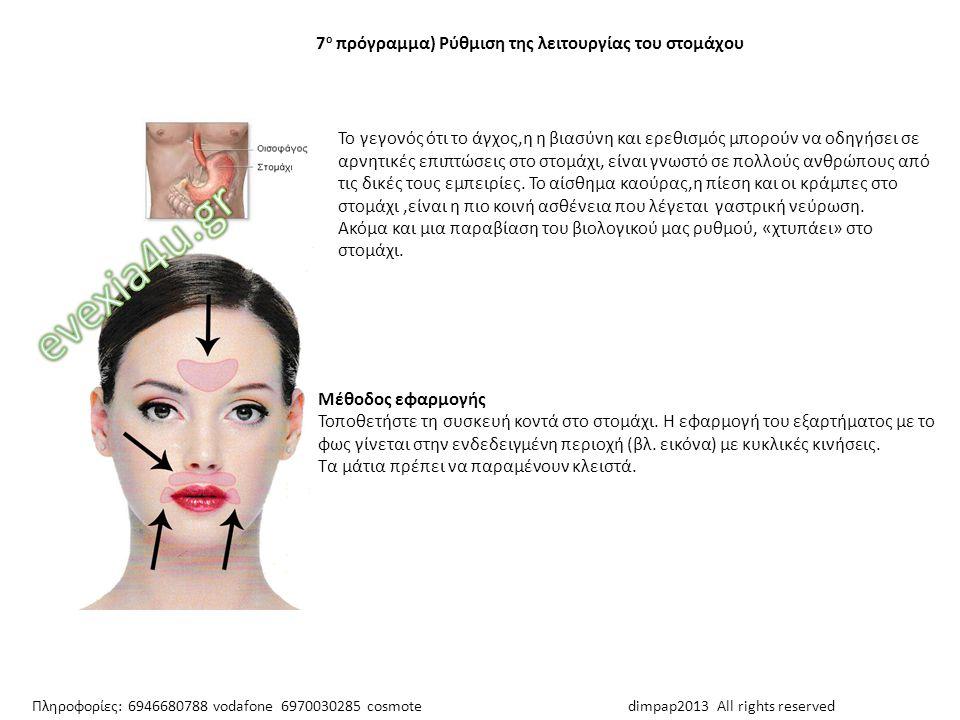 evexia4u.gr 7ο πρόγραμμα) Ρύθμιση της λειτουργίας του στομάχου