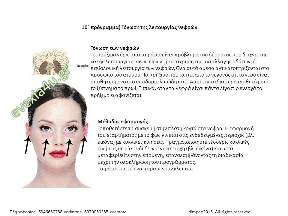 evexia4u.gr 10ο πρόγραμμα) Τόνωση της λειτουργίας νεφρών