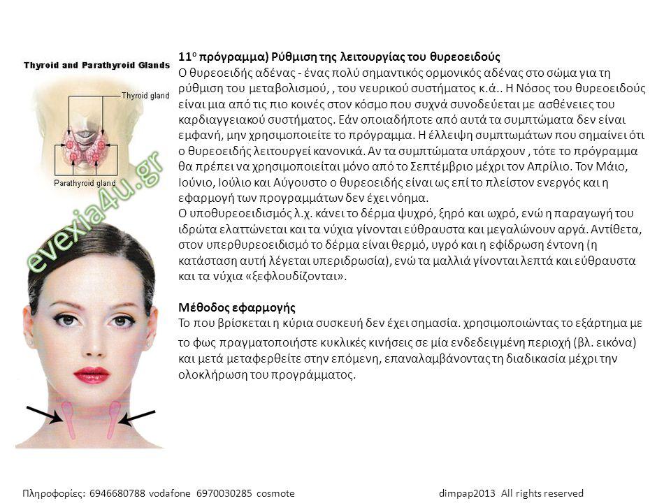 evexia4u.gr 11ο πρόγραμμα) Ρύθμιση της λειτουργίας του θυρεοειδούς