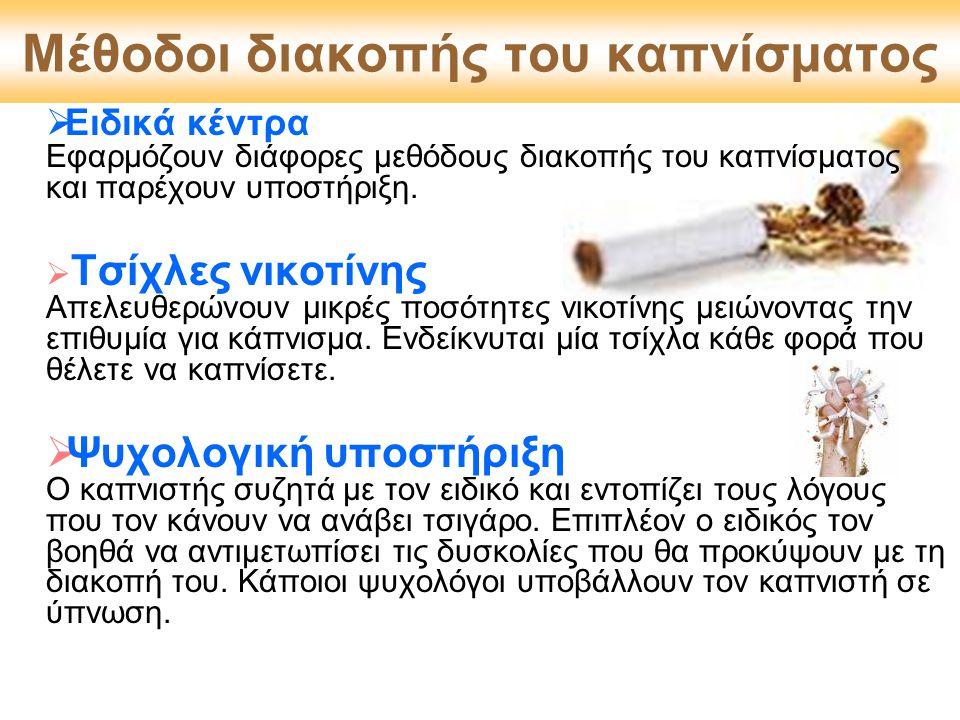 Μέθοδοι διακοπής του καπνίσματος
