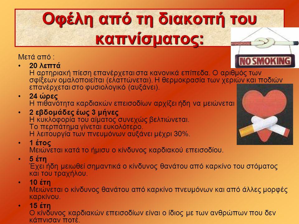 Οφέλη από τη διακοπή του καπνίσματος: