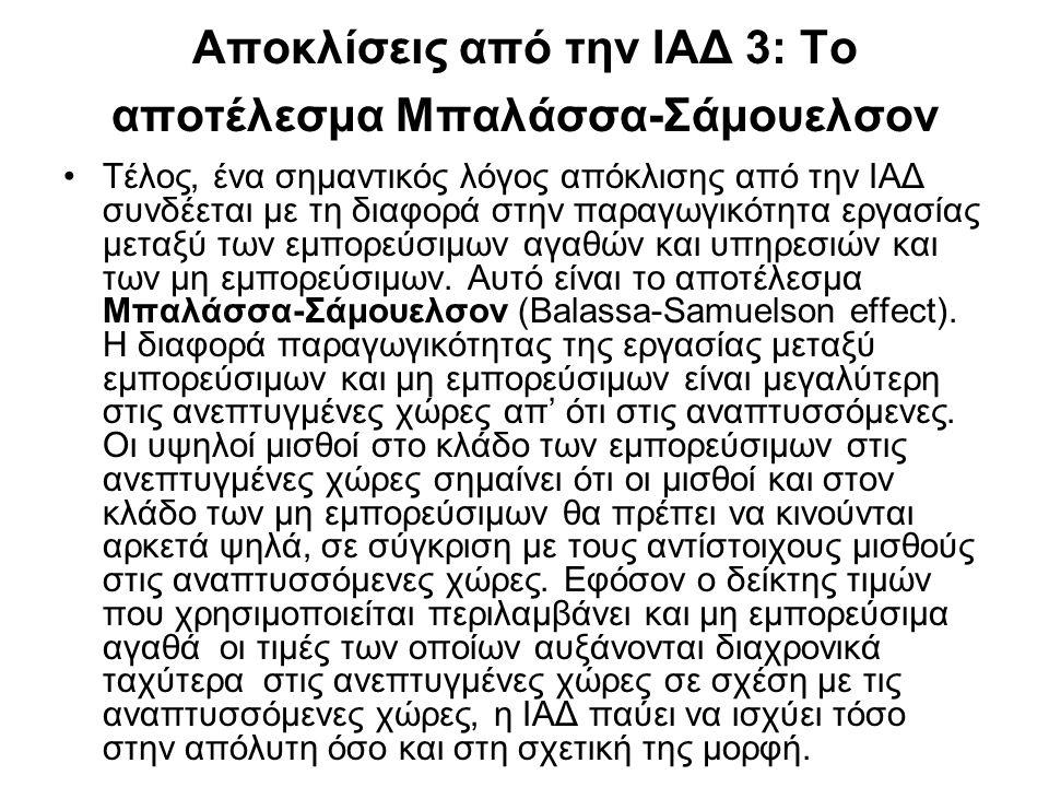 Αποκλίσεις από την ΙΑΔ 3: Το αποτέλεσμα Μπαλάσσα-Σάμουελσον