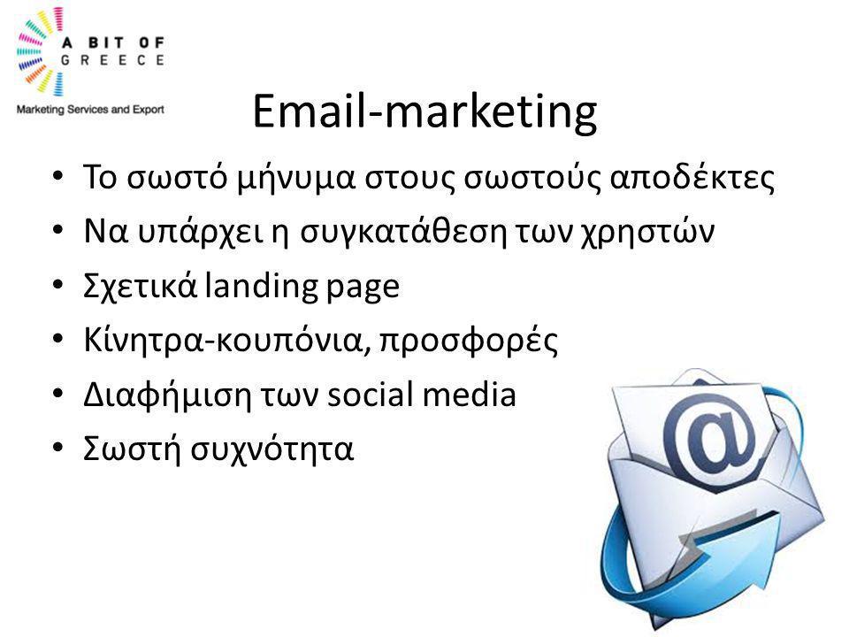 Email-marketing Το σωστό μήνυμα στους σωστούς αποδέκτες