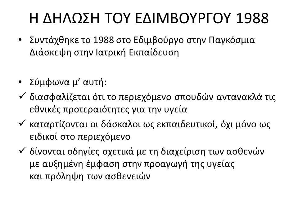 Η ΔΗΛΩΣΗ ΤΟΥ ΕΔΙΜΒΟΥΡΓΟΥ 1988