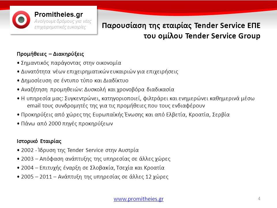 Παρουσίαση της εταιρίας Tender Service ΕΠΕ του ομίλου Tender Service Group