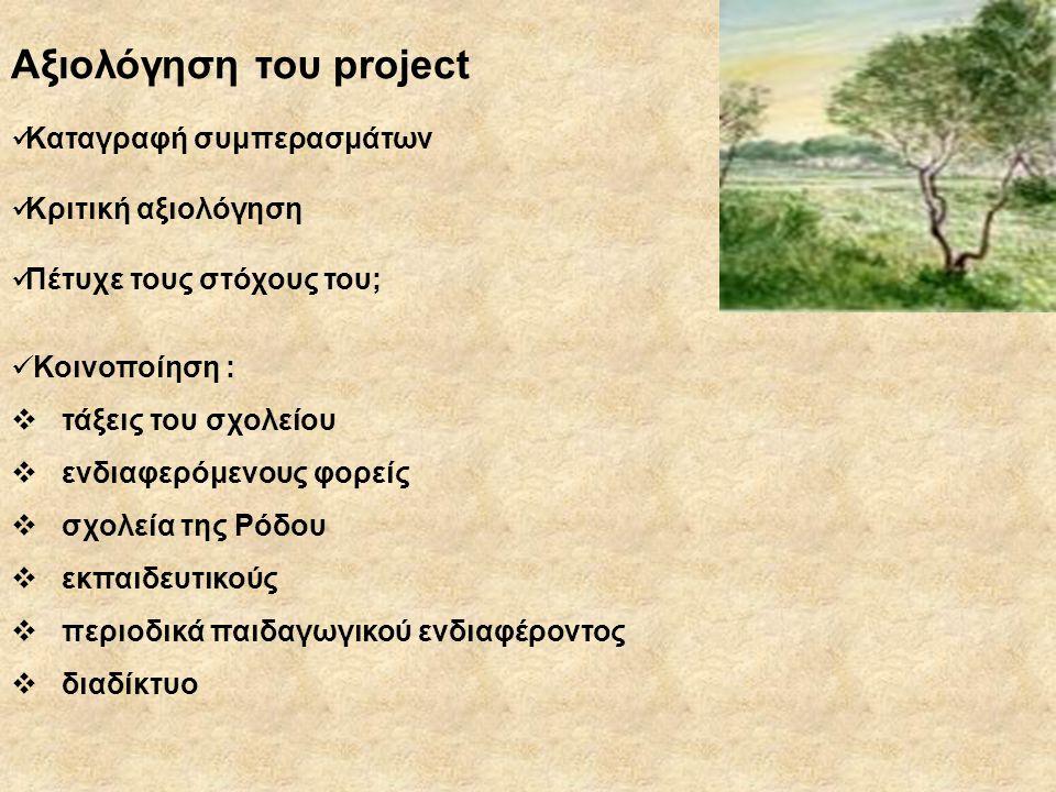 Αξιολόγηση του project
