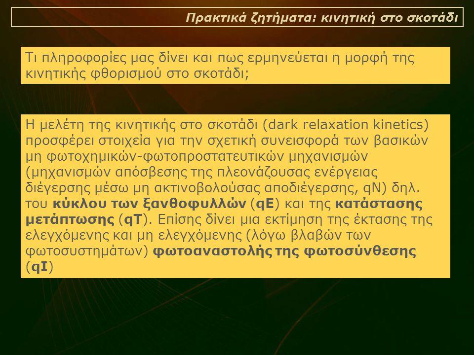 Πρακτικά ζητήματα: κινητική στο σκοτάδι
