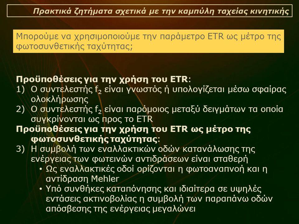 Προϋποθέσεις για την χρήση του ETR: