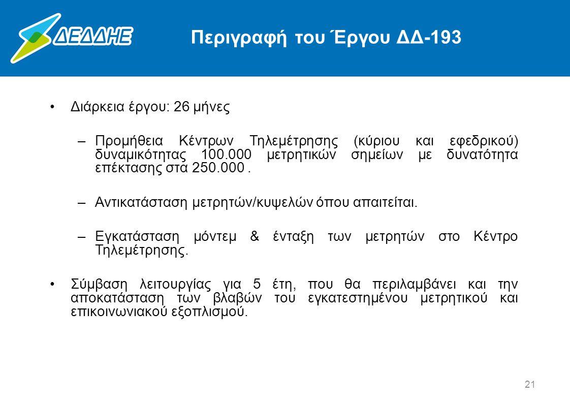 Περιγραφή του Έργου ΔΔ-193