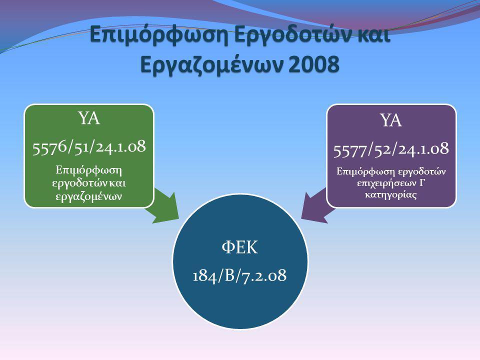 Επιμόρφωση Εργοδοτών και Εργαζομένων 2008