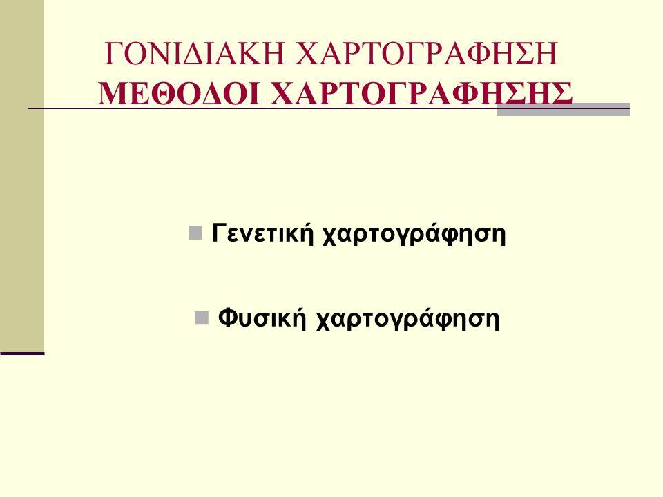 ΓΟΝΙΔΙΑΚΗ ΧΑΡΤΟΓΡΑΦΗΣΗ ΜΕΘΟΔΟΙ ΧΑΡΤΟΓΡΑΦΗΣΗΣ