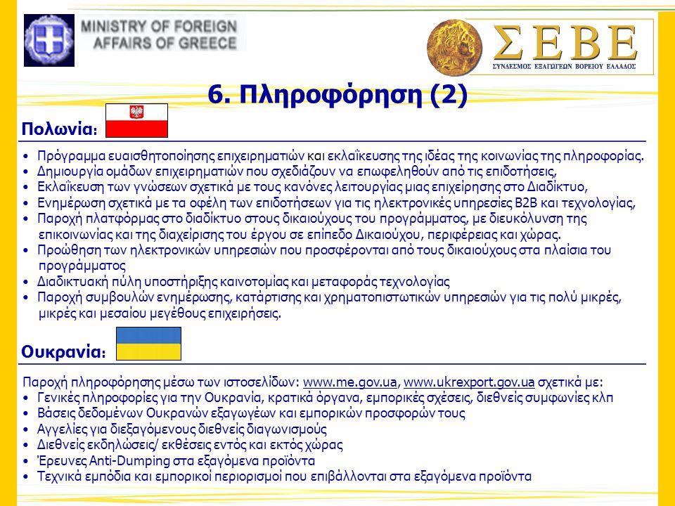 6. Πληροφόρηση (2) Πολωνία: Ουκρανία: