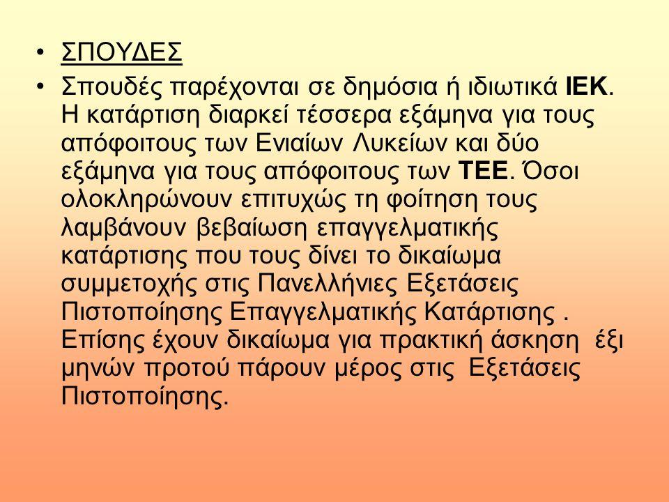 ΣΠΟΥΔΕΣ