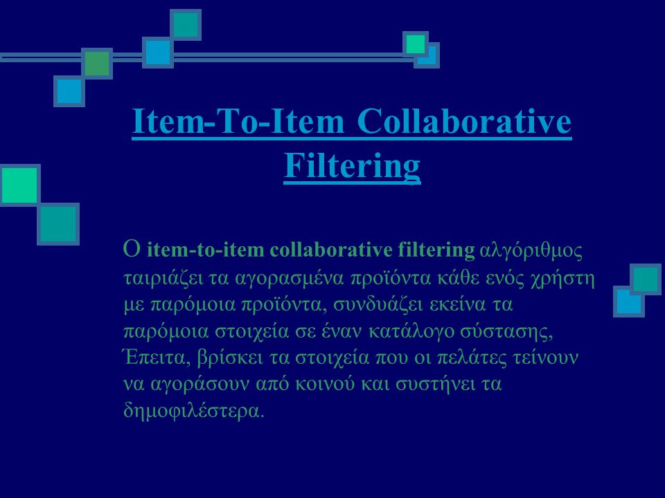 Item-To-Item Collaborative Filtering