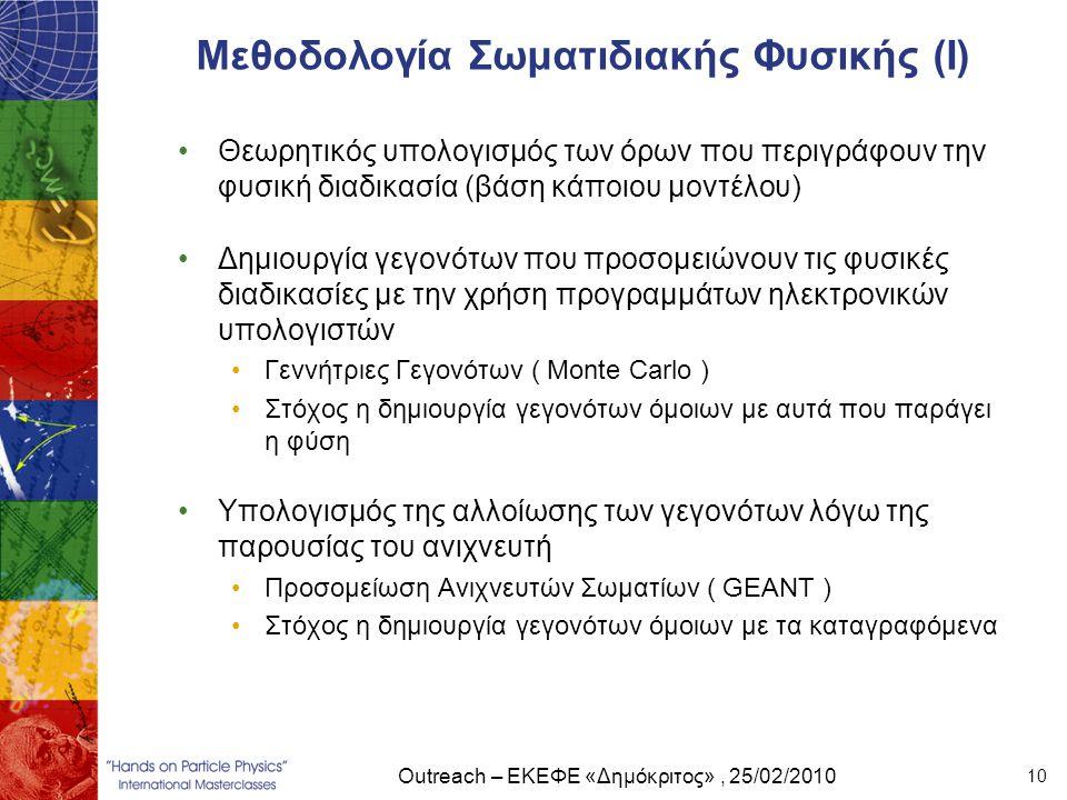 Μεθοδολογία Σωματιδιακής Φυσικής (Ι)