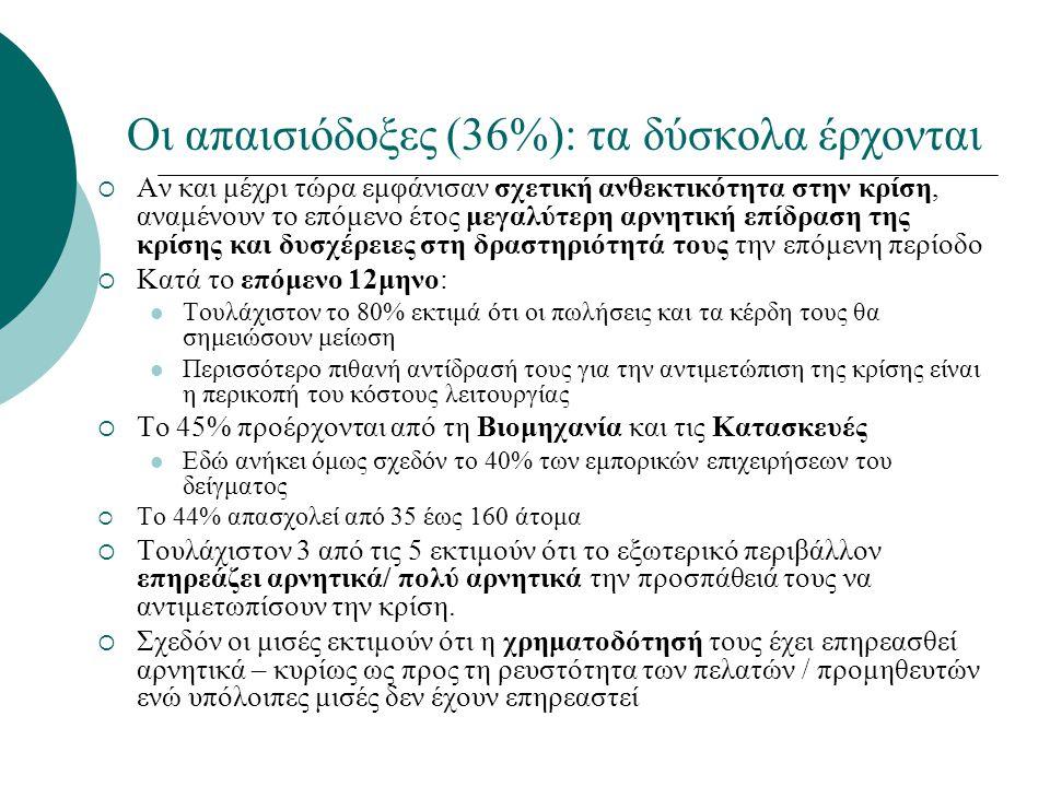 Οι απαισιόδοξες (36%): τα δύσκολα έρχονται