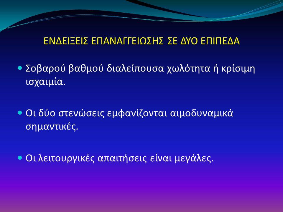 ΕΝΔΕΙΞΕΙΣ ΕΠΑΝΑΓΓΕΙΩΣΗΣ ΣΕ ΔΥΟ ΕΠΙΠΕΔΑ