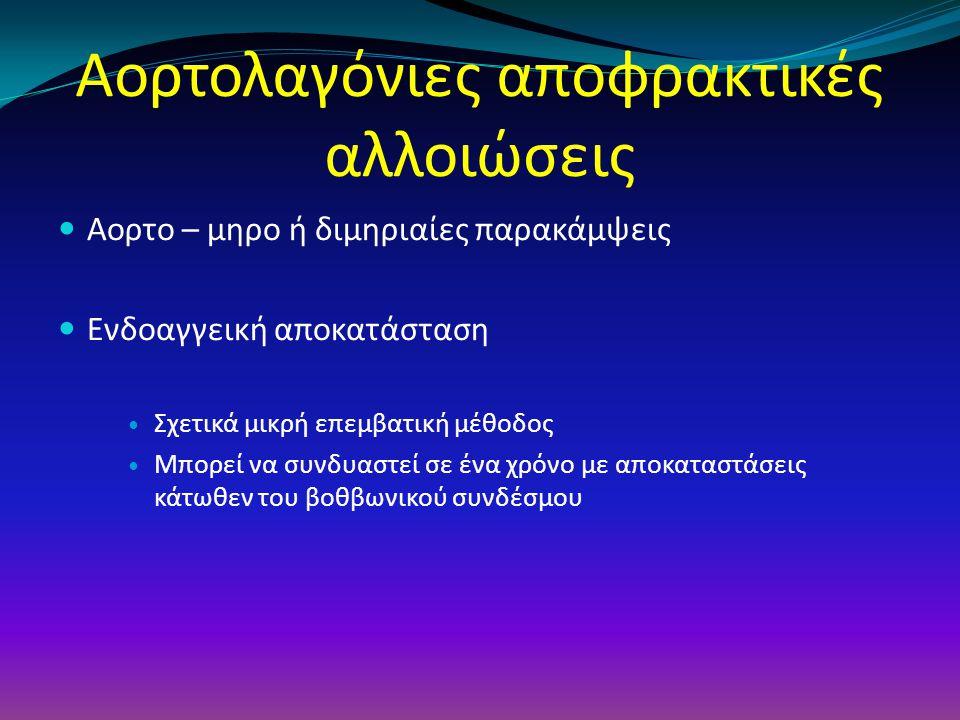 Aoρτολαγόνιες αποφρακτικές αλλοιώσεις