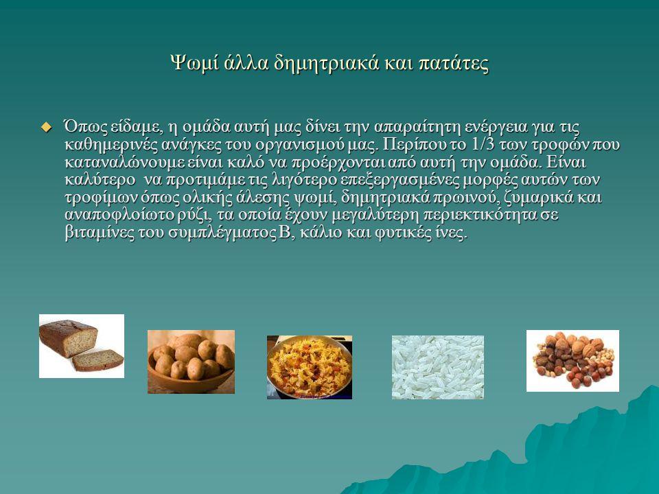 Ψωμί άλλα δημητριακά και πατάτες