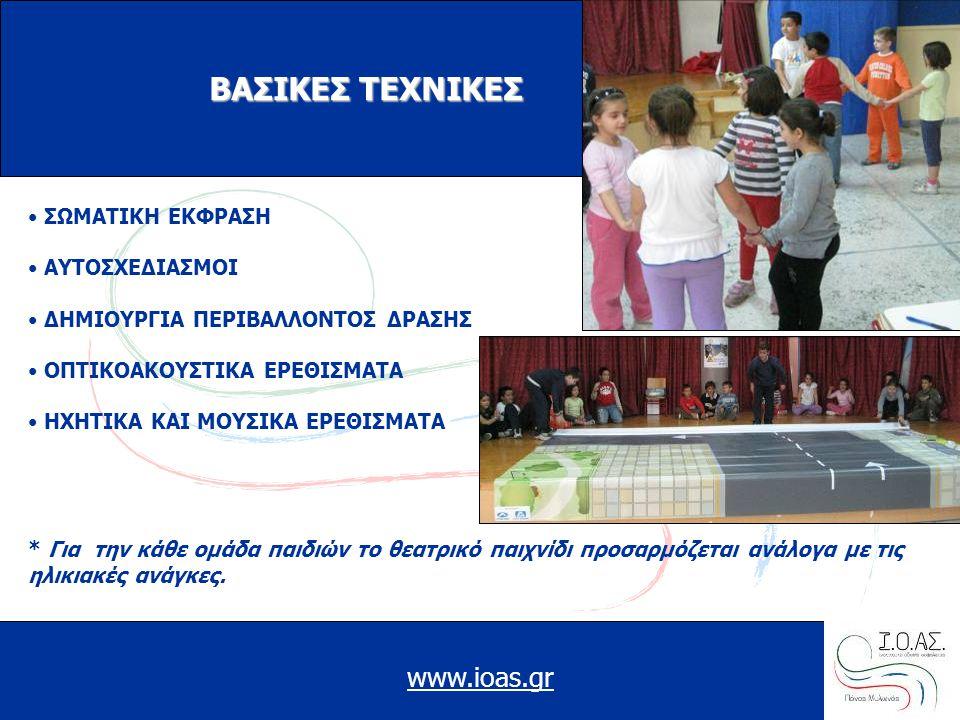 ΒΑΣΙΚΕΣ ΤΕΧΝΙΚΕΣ www.ioas.gr ΣΩΜΑΤΙΚΗ ΕΚΦΡΑΣΗ ΑΥΤΟΣΧΕΔΙΑΣΜΟΙ
