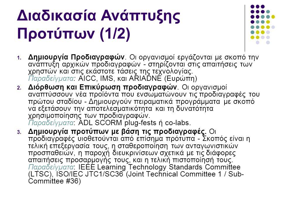 Διαδικασία Ανάπτυξης Προτύπων (1/2)