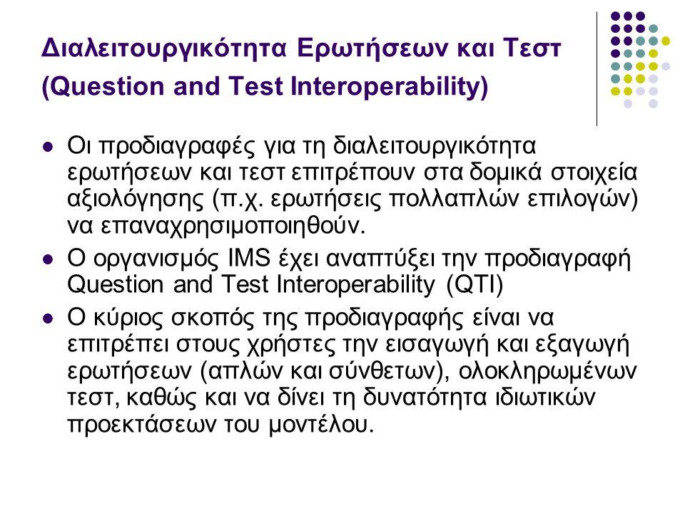 Διαλειτουργικότητα Ερωτήσεων και Τεστ (Question and Test Interoperability)