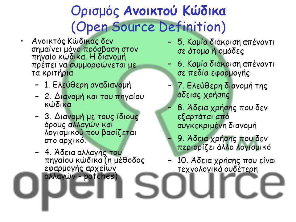 Ορισμός Ανοικτού Κώδικα (Open Source Definition)